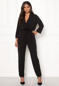 Jacqueline de Yong Geggo Treats 3/4 Jumpsuit Black Bubbleroom.se