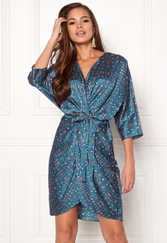 Twist & Tango Georgina Dress Blue Flower Print Bubbleroom.se