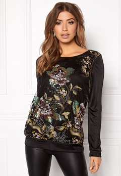 Ida Sjöstedt Ginger sweater Black/multi Bubbleroom.no