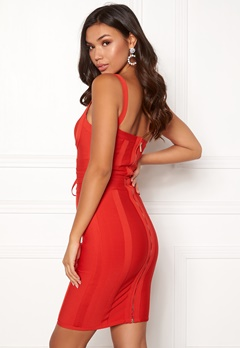 Girl In Mind Arabella Bodycon Dress Red Bubbleroom.se