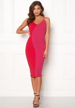 Girl In Mind Bala Contrast Cami Dress Red/Pink Bubbleroom.se