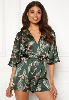 Girl In Mind Ciana Batwing Playsuit Green Bubbleroom.se