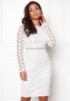 Girl In Mind Clara Dress White Bubbleroom.se