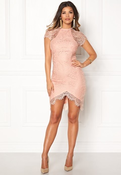 Girl In Mind Francis Lace Dress Mauve Bubbleroom.fi