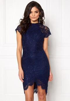 Girl In Mind Francis Lace Dress Navy Bubbleroom.fi