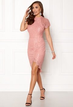 Girl In Mind Francis Lace Dress Pink Bubbleroom.no