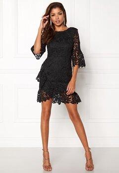Girl In Mind Frill Mini Dress Black Bubbleroom.fi
