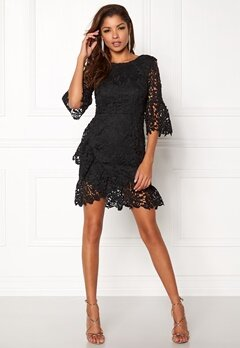 Girl In Mind Frill Mini Dress Black Bubbleroom.se