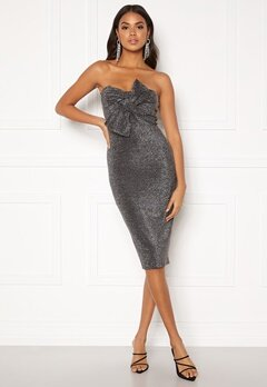 Girl In Mind Kendal Lurex Dress Silver Bubbleroom.se