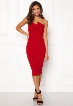 Girl In Mind Kendall Dress Red Bubbleroom.se
