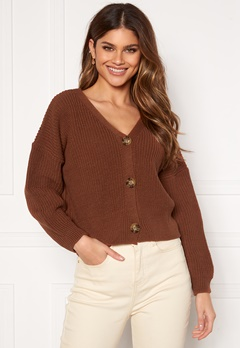 Girl In Mind Kiera Relaxed Fit Cardigan Rust Rust Bubbleroom.se