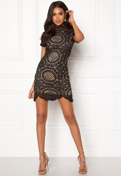 Girl In Mind Lace Dress Black Bubbleroom.se