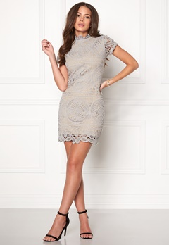 Girl In Mind Lace Dress Grey Bubbleroom.fi