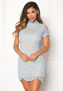 Girl In Mind Lace Dress Light Blue Bubbleroom.no