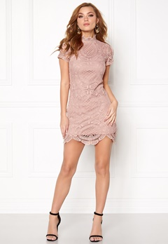 Girl In Mind Lace Dress Mauve Bubbleroom.fi