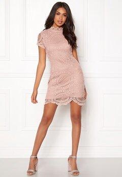 Girl In Mind Lace Dress Mauve Bubbleroom.se