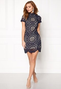 Girl In Mind Lace Dress Navy Bubbleroom.fi
