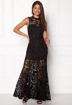 Girl In Mind Lace Maxi Dress Black Bubbleroom.fi