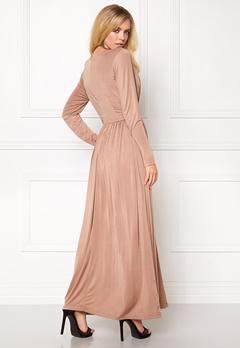 Girl In Mind Long Dress Mocha Bubbleroom.no