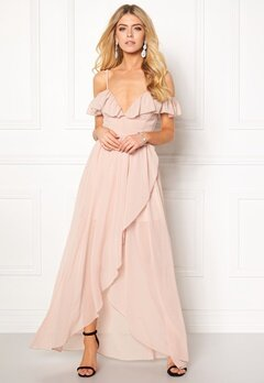 Girl In Mind Maxi Flow Dress Light Pink Bubbleroom.no