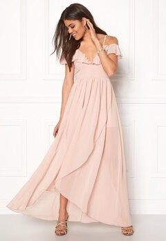Girl In Mind Maxi Flow Dress Light Pink Bubbleroom.se