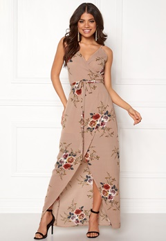Girl In Mind Mia Floral Wrap Maxi Flower Bubbleroom.se