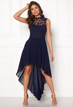 Girl In Mind Midi Lace Dress Navy Bubbleroom.fi