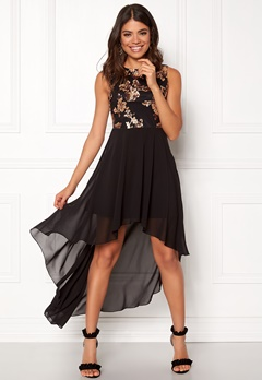 Girl In Mind Sequin High Low Dress Black Bubbleroom.fi