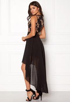 Girl In Mind Sequin High Low Dress Black Bubbleroom.no