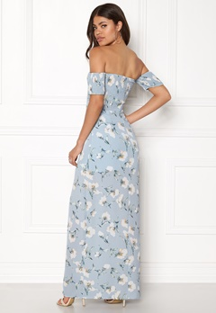 Girl In Mind Skylar Bardot Maxi Dress Flower Bubbleroom.no