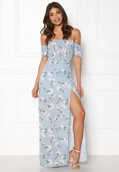 Girl In Mind Skylar Bardot Maxi Dress Flower Bubbleroom.se