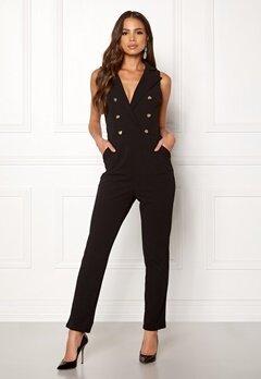 Girl In Mind Tailored V Neck Jumpsuit Black Bubbleroom.se