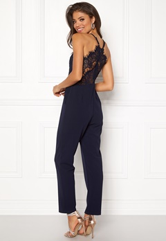 Girl In Mind Willow Jumpsuit Navy Bubbleroom.fi