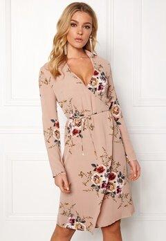Girl In Mind Wrap around Dress Flower Bubbleroom.se
