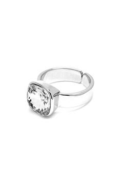 BY JOLIMA Glam Crystal Ring Crystal Silver Bubbleroom.se