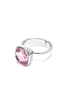 BY JOLIMA Glam Crystal Ring Light Rose Silver Bubbleroom.se