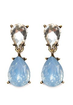 BY JOLIMA Glam Earring Light Blue Silver Bubbleroom.se