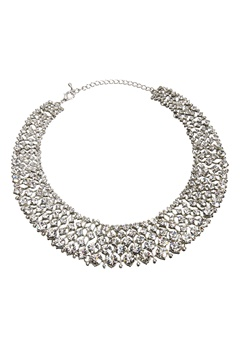 Love Rocks Glamour Crystal Collar Silver colour Bubbleroom.se