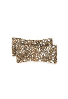 Heelow Glitter Bow Clips Guld Bubbleroom.se