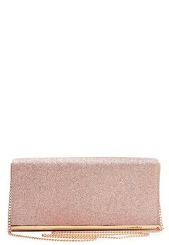 New Look Glitter Clutch Rose Gold Bubbleroom.no