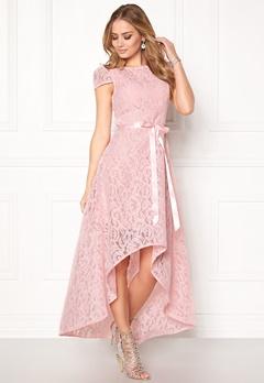 Goddiva Asymmetric Lace Dress Pink Bubbleroom.no