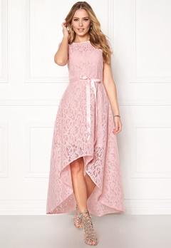 Goddiva Asymmetric Lace Dress Pink Bubbleroom.dk