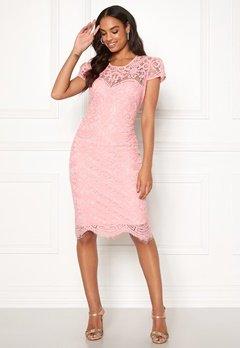 Goddiva Cap Sleeve Lace Dress Blush Bubbleroom.se