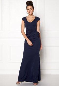 Goddiva Cap Sleeve Maxi Dress Navy Bubbleroom.se
