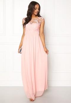 Goddiva Chiffon Dress With Flower Rose Bubbleroom.dk