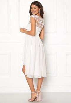 Goddiva Chiffon High Low Dress White Bubbleroom.se