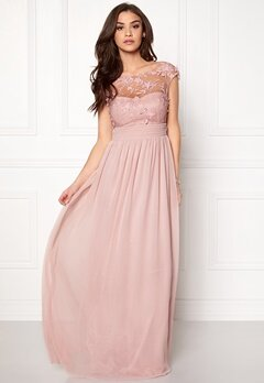 Goddiva Chiffon Maxi Dress Rose Bubbleroom.fi