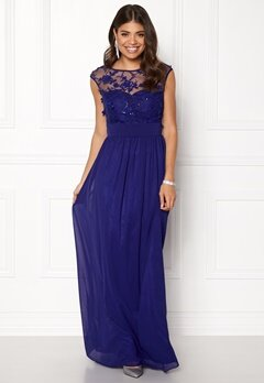 Goddiva Chiffon Maxi Dress Royal Bubbleroom.no