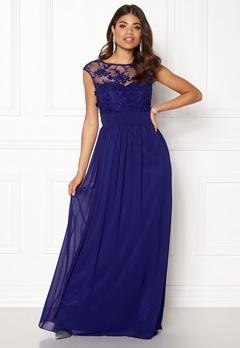 Goddiva Chiffon Maxi Dress Royal Bubbleroom.no