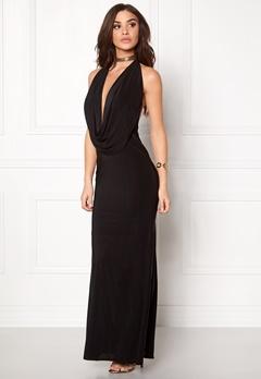 Goddiva Cowl Neck Maxi Dress Black Bubbleroom.se